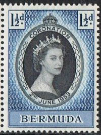 Bermuda SG134 1953 Coronation 1½d unmounted mint